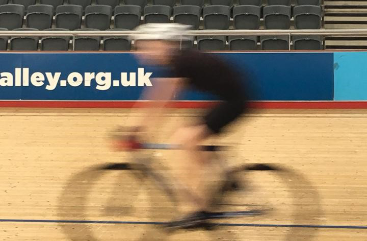 waltonwagner cycling at the Olympic Park Velodrome