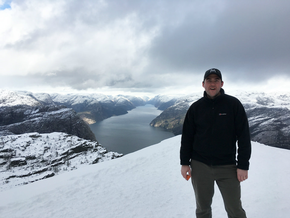 Luke Harding trekking in Norway