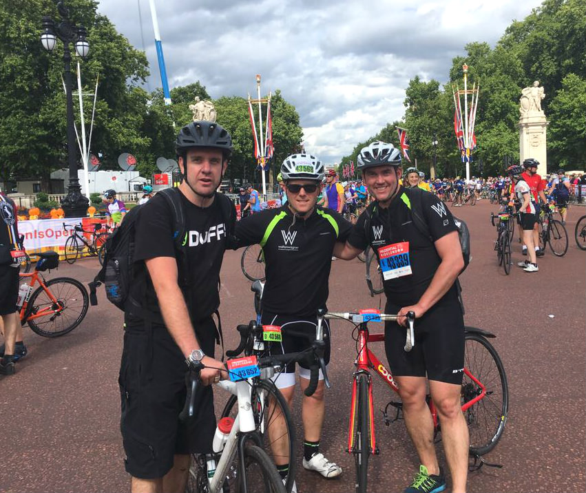Team WW at RideLondon 2017