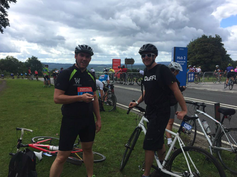 Team waltonwagner at RideLondon 100