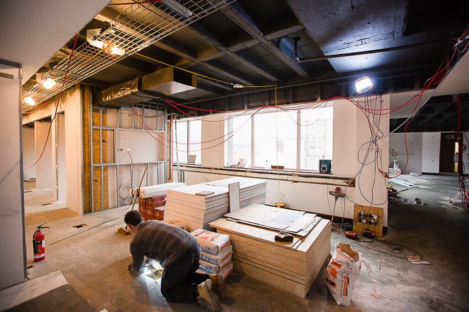 Arlington Street reception area in progress