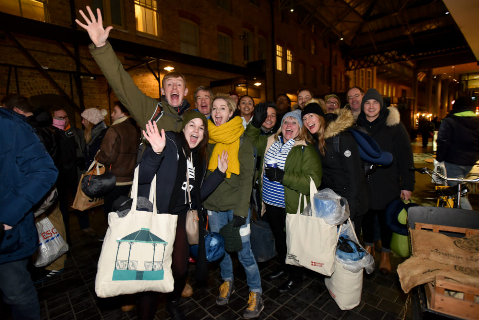 LandAid SleepOut participants